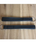 BLACK Door Pull Strap with ring (PAIR) early style