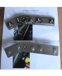 Stainless Door Strut Mount Repair Kit (PAIR)