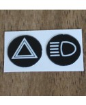 DeLorean Headlight and Hazard Switch Sticker Decal Kit