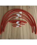 Silicone Vacuum Hose Kit (Deep Red)