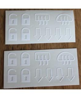 DeLorean Switch Sticker Decal Kit