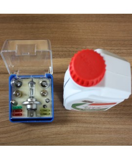Essential Travel Spare Bulbs, Fuses, Oil