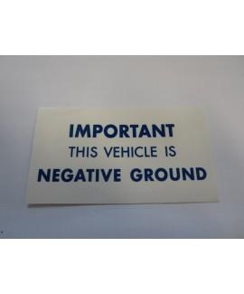 Label - Neg Ground