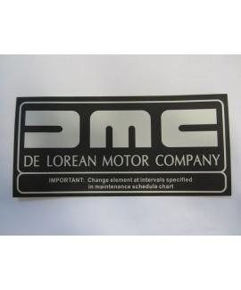 Label - Air Filter, DMC