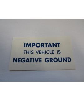 Label - Neg Ground