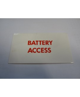Label - Battery Access