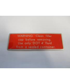 Label - Brake Fluid