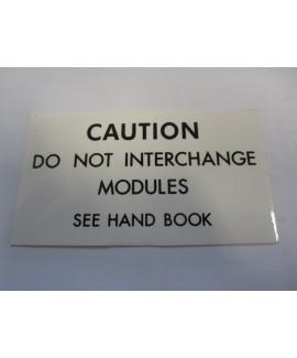 Label - Module Interchange