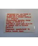 Label - A/C Compressor