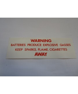 Label - Battery Gases