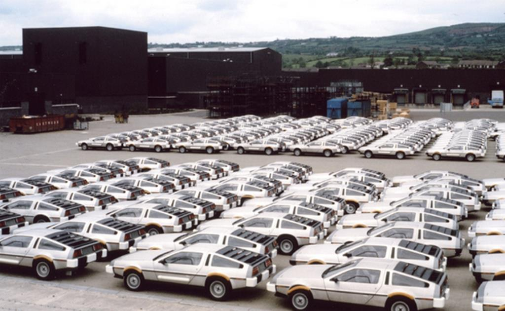 The DeLorean factory in 1981